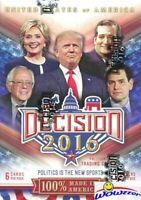2016 Decision Political Trading Cards Blaster Box-Donald Trump, Clinton, Obama++
