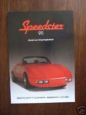 Sportcar-Service Speedster 911, Prospekt, D, selten!