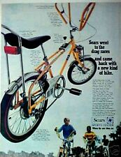 1968 Sears Screamer Butterfly Bars Bicycle Vintage Bike Promo Trade Print AD