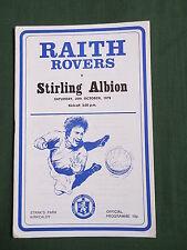 RAITH ROVERS  vs  STIRLING ALBION    1979 / 80