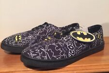 BATMAN Bioworld DC Comics Canvas Boom Lace up Shoes Size 9 MENS