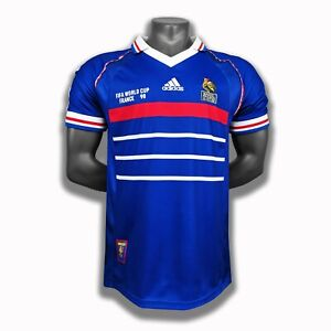 1998 France Home Retro Soccer Jersey