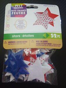 Felt Stickers STARS Darice 52 Pieces peel and stick stickers
