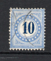 Switzerland 10 Cent Postage Due Used Stamp c1878-80 (1779)