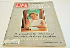 September 15, 1967 LIFE Magazine Stalin's Daughter. ads FREE SHIPPING Sept. 9 16