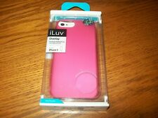 iLuv Pink Overlay for iphone 5 Translucent Hardshell Case NIP