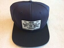 "NWT - Men's Vans Original Patch ""Off the Wall"" Navy & Black Snapback Cap/Hat"