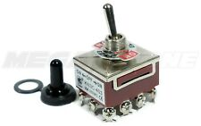 Toggle Switch Heavy Duty 20a125v 4pdt On Off On Withwaterproof Boot Usa Seller