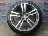 """PORSCHE CAYENNE 21"""" ALLOY WHEEL WITH 295/35 ANTARES TYRE 6MM 92A 958 7P5601025M"""