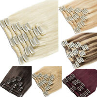 100% Real Remy Human Hair Extensions Clip in Hair Thick 100gram 8Pcs One Set 7A