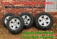 "*One 2014-2018 17"" Chevy GMC Truck 1500 Silverado Suburban Sierra Aluminum Wheel"
