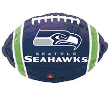 """NFL Seattle Seahawks Football 18"""" Foil Balloon Double Sided 3 Pack Helium"""