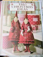 TILDA'S CHRISTMAS IDEAS~Tone Finnanger cloth art dolls~Santas~ice skate PATTERN