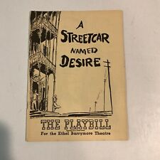 "Marlon Brando ""A STREETCAR NAMED DESIRE"" Tennessee Williams 1948 Playbill"