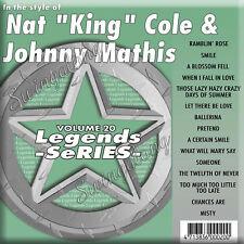 New listing Legends Karaoke Cdg Vol 020 - Nat 'King' Cole & Johnny Mathis Genuine New