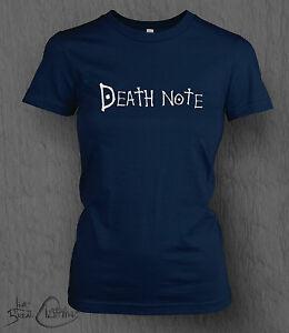 Death Note T-shirt DeathNote Logo WOMEN'S LADY FIT, Light, Anime Manga One Piece