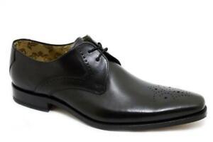 Loake Cosidos Premium Zapatos Hombre 2 Ojo Poderes Black