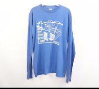 Vintage 80s Bantam Mens Medium Davis Besse Nuclear Power Plant Long Sleeve Shirt
