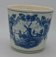 """Delft Blayw Hand Painted Made in Holland Planter Blue 4 3/4"""""""