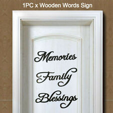 Wall Hanging Ornaments English Letters Words Sign Family Memories Blessings