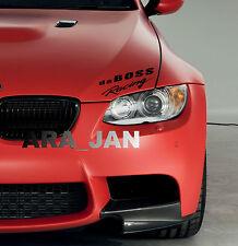 daBOSS Racing Hood Decal Stickers sport race car logo emblem sticker BLACK