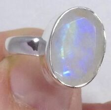 Natural Moonstone Sterling Silver Fine Rings