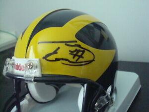 Taylor Lewan AUTOGRAPHED MICHIGAN WOLVERINES FOOTBALL Mini Helmet SIGNED