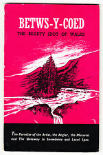 Betws-Y-Coed Official Guide - Wales - booklet 1950s