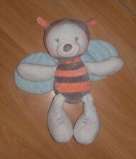 Jolie abeille NATTOU doudou comme NEUF aux couleurs pastels, peut-être papillon