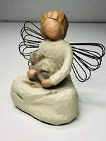Demdaco Willow Tree Angel of Kindness With Cat Figurine