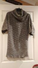 Womens Old Navy medium long sweater cowl neck euc gray