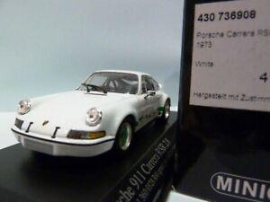 WOW EXTREMELY RARE Porsche 911 RSR 2.8 Brumos 1973 White 1:43 Minichamps-Spark