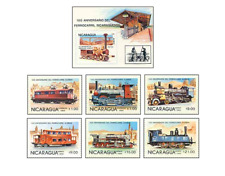 NIC8501 Old railways  block and 6 stamps