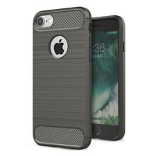 Apple iPhone 8 Plus TPU Case Carbon Fiber LOOK Brushed Motif Cases Grey