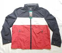NWT Tommy Hilfiger Mens Classic Hooded Full-zip Jacket Flag Red White Blue XL
