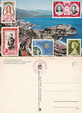 MONACO STAMP ILLUSTRATIONS UNUSED COLOUR  POSTCARD (a)