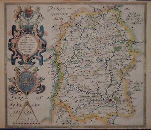 WILTSHIRE - WILTONIAE COMITATUS BY CHRISTOPHER SAXTON, 1597 (BUT 1642)