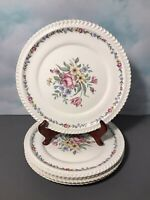 "Vintage Harker Royal Gadroon Set of 5 -10.5"" Dinner Plates ""Bouquet"" Pattern"