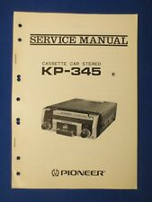 Pioneer KP-345 Cassette Service Manual Factory Original The Real Thing