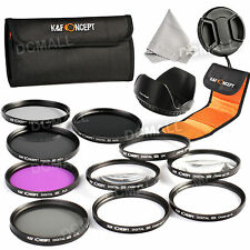 52mm Macro Close Up Set + UV CPL FLD ND 2 4 8 Lens Filter Kit for Canon Nikon