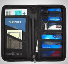 Travel Wallet Passports Holder RFID Blocking AGILIS Waterproof Family Card Money