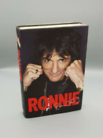 Rolling Stones Ronnie Wood Autobiography HAND SIGNED Ronnie with guitar sketch