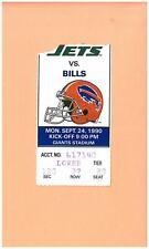 Buffalo Bills @ New York Jets 9-24-1990 NFL ticket stub Super Bowl XXV season NY