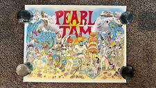 Pearl Jam Poster 10/09/09 San Diego Avenia - Viejas Arena w/ Ben Harper