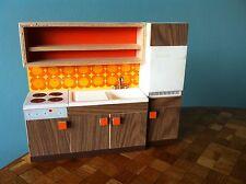 Küchenzeile Herd Kühlschrank Puppenhaus 1:12  Bodo Hennig 70er Jahre Puppenstube