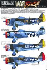 Kits World Decals 1/72 Republic P-47D/M Thunderbolt Hub Zemke's 56th Fg Part 2