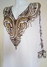 NEW GOLD SEQUIN BLOUSE VEST SHIRTS PONCHO WEDDING TOPS TUNIC CAPE CAFTAN  SEXY