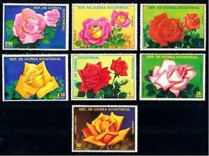Equatorial Guinea #Mi1573-Mi1579 MNH CV€3.50 Roses Rosas Rosen