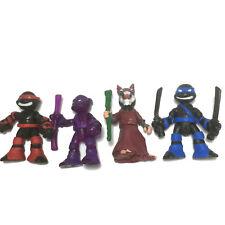 """4PCS TMNT Rooftop Ruckus Teenage Mutant Ninja Turtles Splinter Leonardo 2.5"""" toy"""