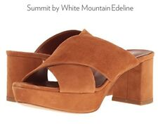 Summit by White Mountain Edelin Coagnac/Suede Womans Heels Sandals Sz. 39 M $75